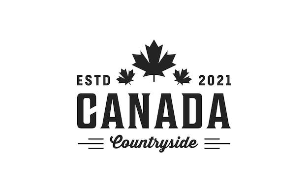 Винтажный ретро логотип в сельской местности канады