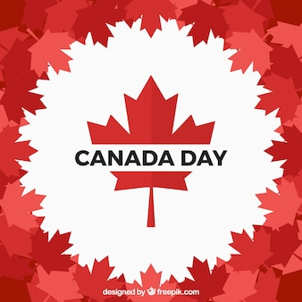 Canada day background in flat design