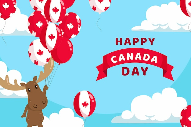 Canada day background style