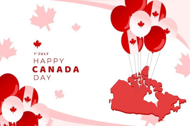 Canada day background theme