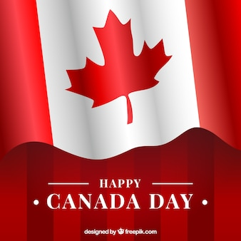 Canada day background with canadian flag