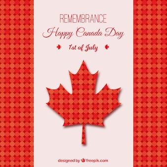 붉은 색조의 점이있는 캐나다의 날 배경