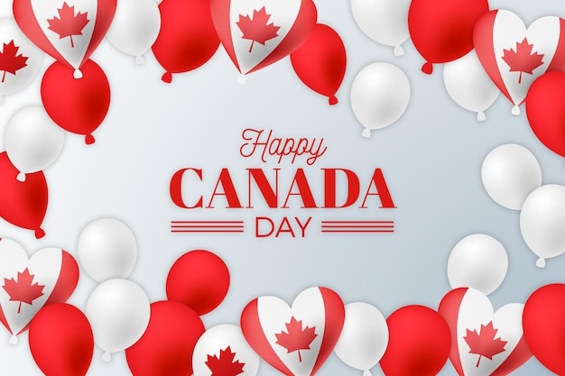 Canada day balloons background design