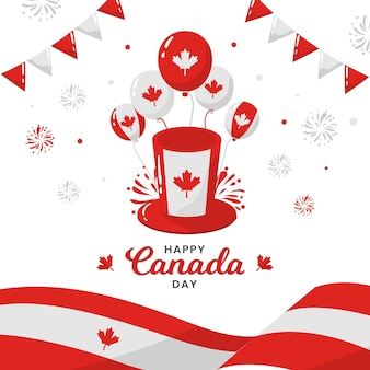 Canada day balloons background style