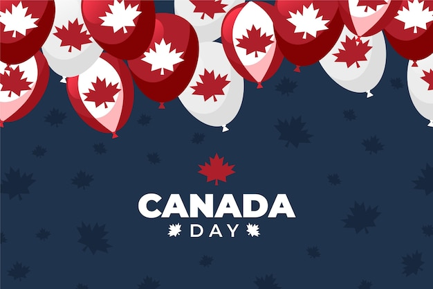 Canada day balloons background