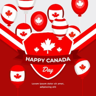 День канады воздушные шары фон
