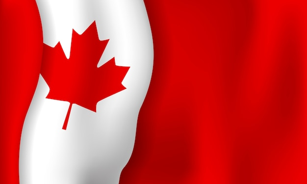 Canada day banner background of flag with copy space