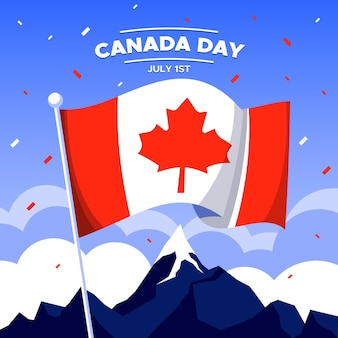Canada day celebration flat design