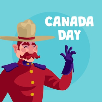Canada day celebration illustration