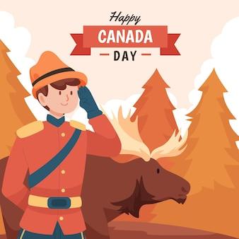 カナダの日のお祝いのイラスト