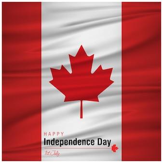 플래그와 함께 캐나다의 날 디자인