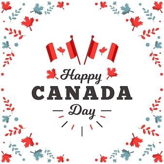 Canada day event flat design