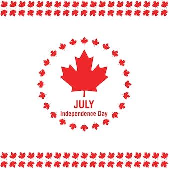 7月1日ハッピーカナダデーカナダの白い背景にフラグ