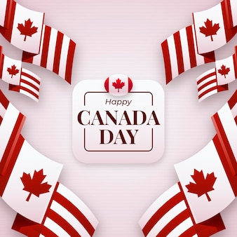 Canada day in flat design concept