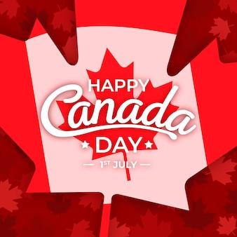 Canada day flat design