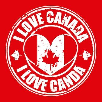 Canada day grunge sticker
