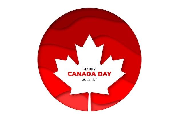 День канады иллюстрация в бумажном стиле Бесплатные векторы