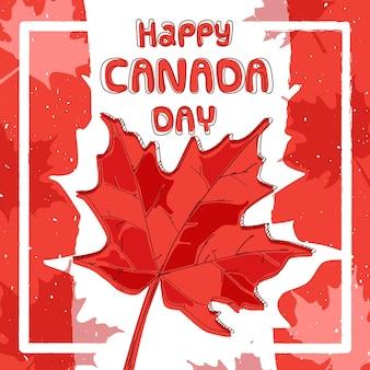День канады в плоской концепции дизайна