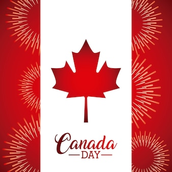 Canada day leave maple flag fireworks celebration v