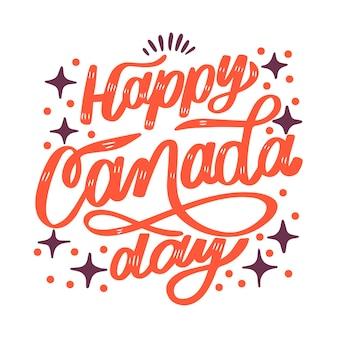 カナダの日レタリングコンセプト