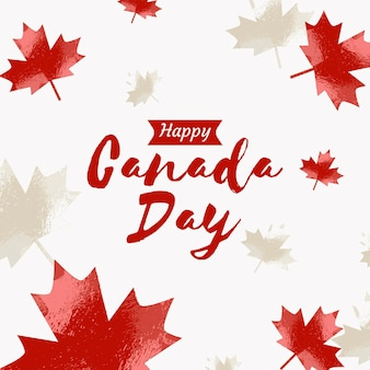 Canada day lettering concept