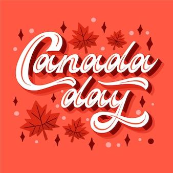 День канады надписи концепция