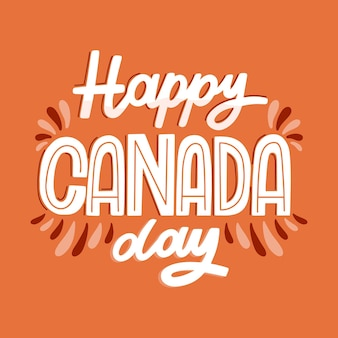 Canada day lettering