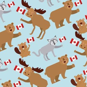 カナダの日パターン