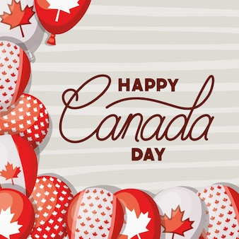 Canada day with maple leaf card