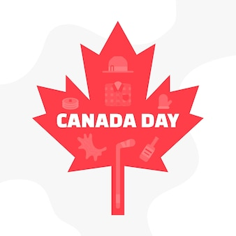 Canada day with maple leaf