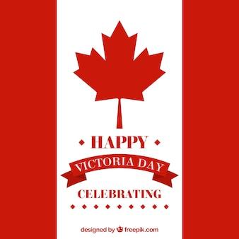 Флаг канады празднование фон день виктории