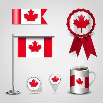 Canada flag design vector