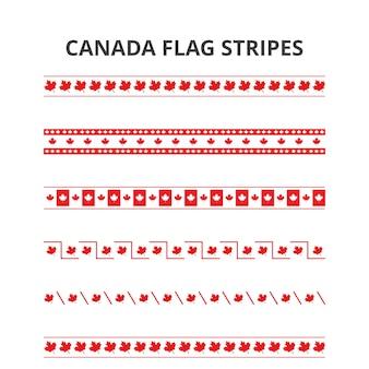 1 ° luglio biglietto di bandiera felice canada day canada bande