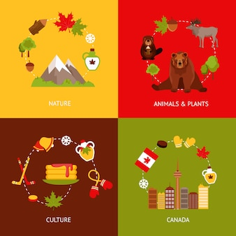 Canada flat element composition set