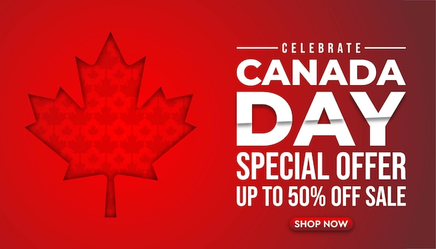 Canada modern super sale banner background template.