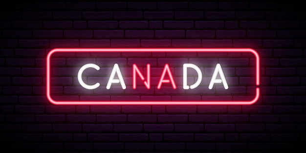 Canada neon sign.