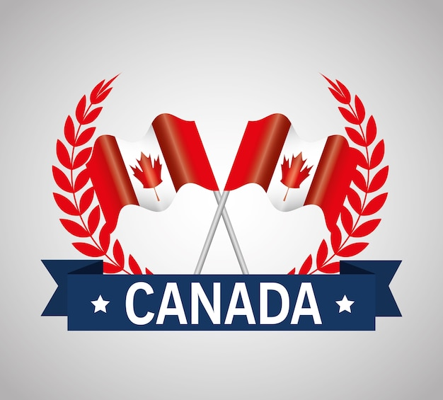 カナダの品質シールアイコンのベクトル図のデザイン
