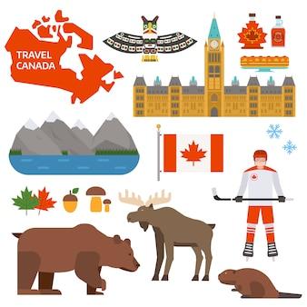 Иллюстрация символов канады.