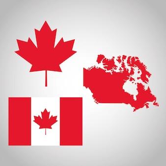 Страна канадцев представлена его флагом кленового листа
