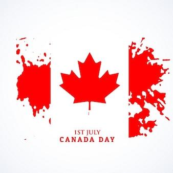 Канадский флаг в стиле гранж