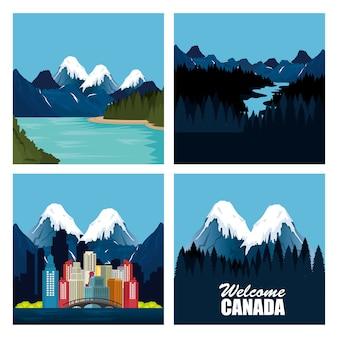 カナダの風景の風景と都市景観
