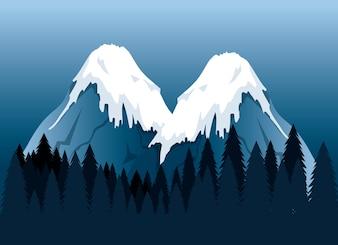 Canadian landscape scene icon vector illustration design