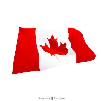 Canadian wavingr flag