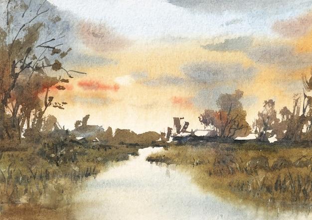 Канал акварель искусства и краски