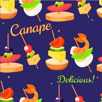 Canape set designer.
