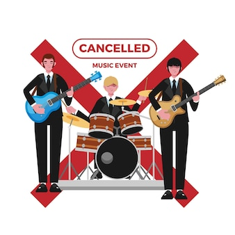 Cancelled event for music illustrated