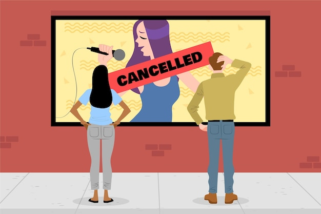 Cancelled events announcement with people