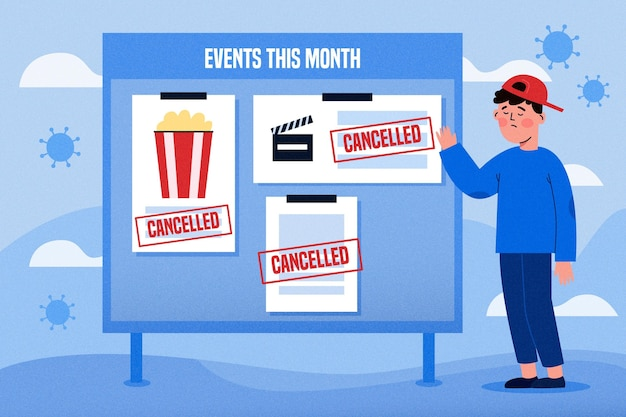 Cancelled events announcement