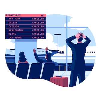 Cancelled flight illustration