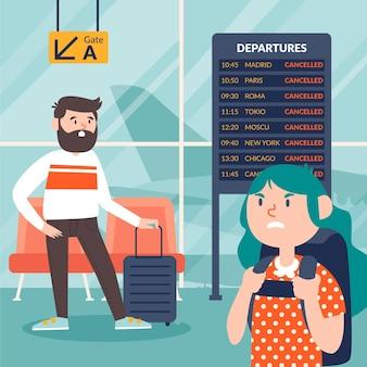 Иллюстрация отмененного рейса